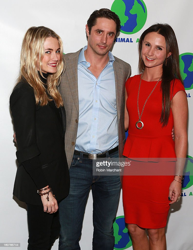 Amanda Hearst, Prince Lorenzo Borghese and Georgina Bloomberg attend Animal AID One Year Anniversary Celebration at Thomson Hotel LES on February 5, 2013 in New York City.