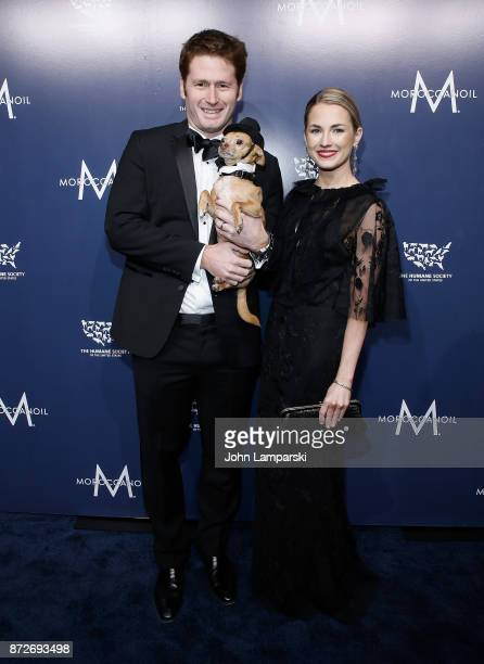 Amanda Hearst Stephen Read and a dog named Finn attend 2017 Humane Society of The United States to the Rescue New York Gala at Cipriani 42nd Street...
