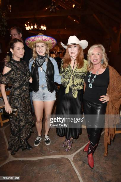 Amanda Hearst Sydney Curley Nicole Miller and Sharon Bush attend Hearst Castle Preservation Foundation Annual Benefit Weekend Hearst Ranch Patron...