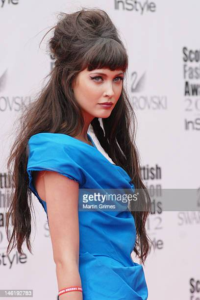 Amanda Hendrick attends the Scottish Fashion Awards 2012 at The Clyde Auditorium on June 11 2012 in Glasgow Scotland