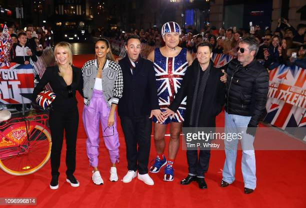 Amanda Holden Alesha Dixon Ant McPartlin David Walliams Declan Donnelly and Simon Cowell arrive at the Britain's Got Talent 2019 auditions held at...