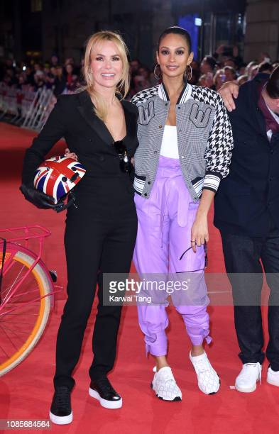 Amanda Holden and Alesha Dixon arrive at the Britain's Got Talent 2019 photocall at London Palladium on January 20 2019 in London England
