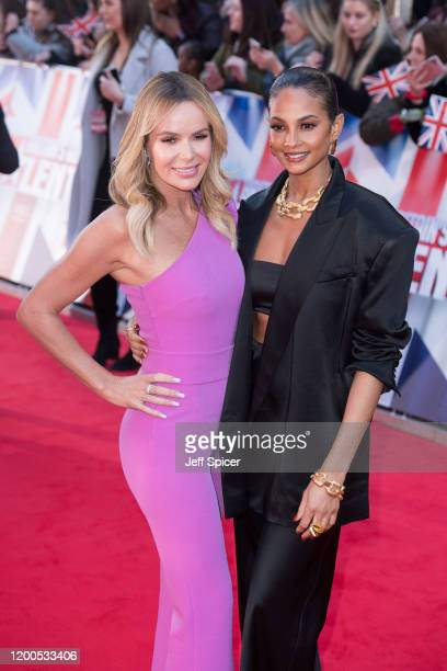 Amanda Holden and Alesha Dixon attend the Britain's Got Talent 2020 photocall at London Palladium on January 19 2020 in London England