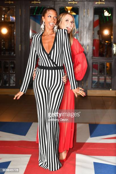 Amanda Holden and Alesha Dixon attend the 'Britain's Got Talent' Blackpool auditions held at Blackpool Opera House on January 16 2018 in Blackpool...