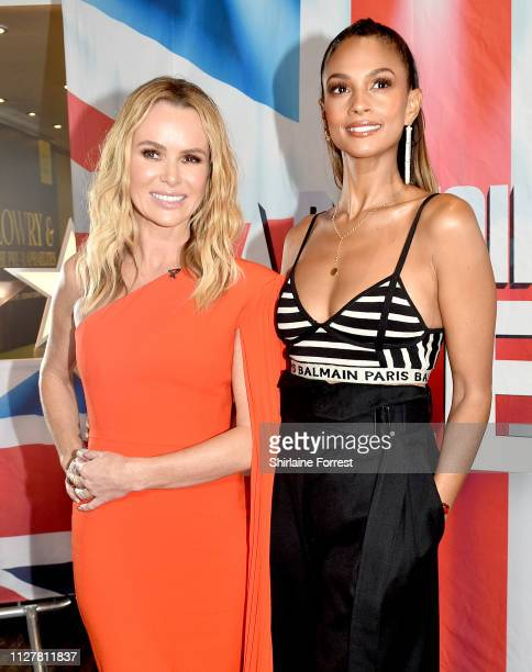 Amanda Holden and Alesha Dixon during the 'Britain's Got Talent' Manchester photocall at The Lowry on February 06 2019 in Manchester England