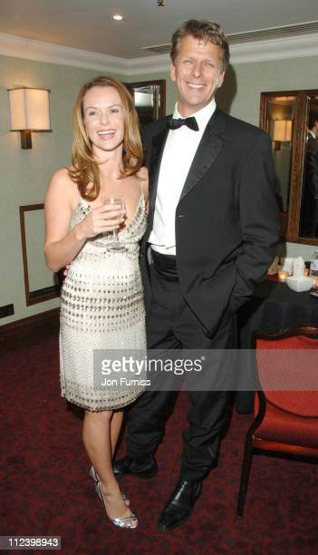 Amanda Holden and Andrew Castle during 2007 Sony Radio Academy Awards Inside at Grosvenor House Hotel in London Great Britain
