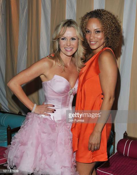 Amanda Holden and Angela Griffin attend the 'Sex And The City 2' after party at Kensington Palace on May 27 2010 in London England