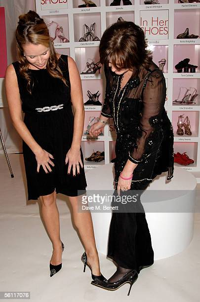 Amanda Holden and Cherie Blair attend the aftershow party following the UK premiere of In Her Shoes at the Grosvenor House Hotel on November 7 2005...