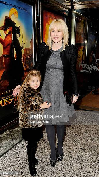 Amanda Holden and daughter Alexa arrive at the UK Premiere of 'Puss In Boots' at Empire Leicester Square on November 24 2011 in London England