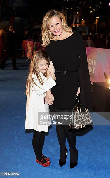 Amanda Holden and daughter Alexa attend the UK Premiere of 'Rise of the Guardians' at Empire Leicester Square on November 15, 2012 in London, England.