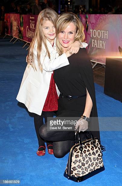 Amanda Holden and daughter Alexa attend the UK Premiere of 'Rise of the Guardians' at Empire Leicester Square on November 15 2012 in London England