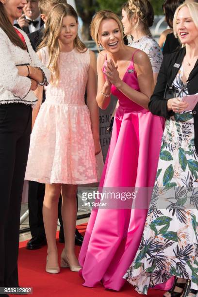 Amanda Holden and daughter Alexa Hughes attend the Virgin TV British Academy Television Awards at The Royal Festival Hall on May 13 2018 in London...