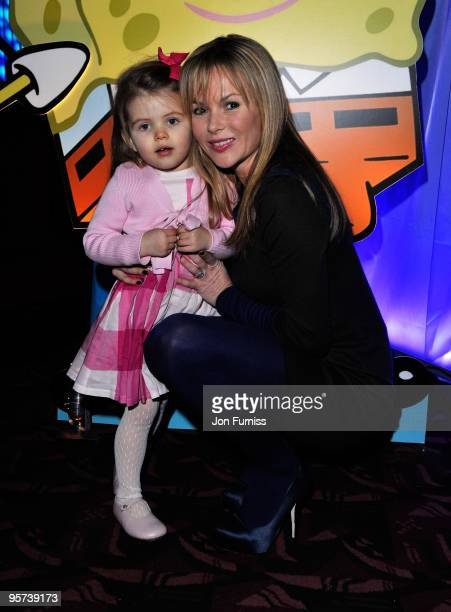 LONDON MARCH 05 Amanda Holden and daughter Alexa Hughes attends the VIP Party of the 'SpongeBob SquarePants The Sponge Who Could Fly' Gala...