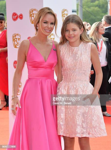 Amanda Holden and daughter Lexi attend the Virgin TV British Academy Television Awards at The Royal Festival Hall on May 13 2018 in London England