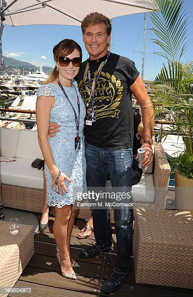 Amanda Holden and David Hasslehoff at the Red Bull Energy Station Circuit de Monaco on May 26 2013 in MonteCarlo Monaco