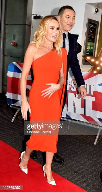 Amanda Holden and David Walliams during the 'Britain's Got Talent' Manchester photocall at The Lowry on February 06 2019 in Manchester England