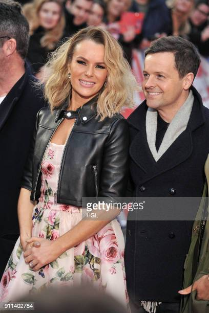 Amanda Holden and Declan Donnelly attend Britain's Got Talent London auditions at London Palladium on January 28 2018 in London England