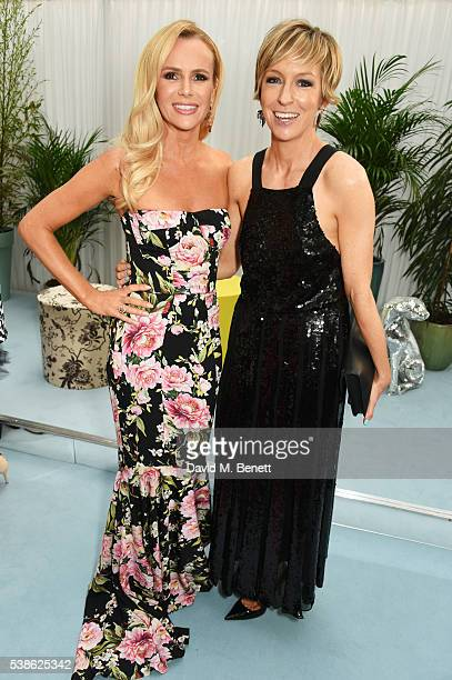 Amanda Holden and Glamour editor Jo Elvin attend the Glamour Women Of The Year Awards in Berkeley Square Gardens on June 7 2016 in London United...