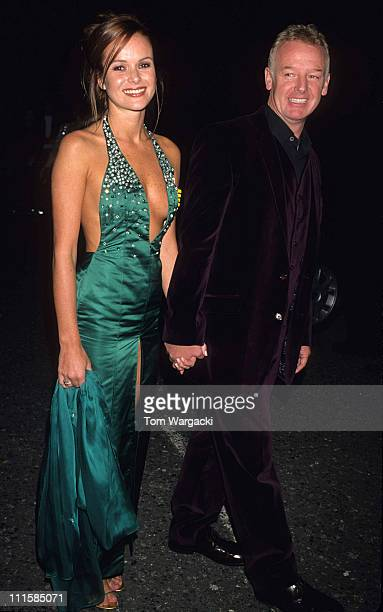Amanda Holden and Les Dennis during The National Television Awards October 10 2000 in London Great Britain