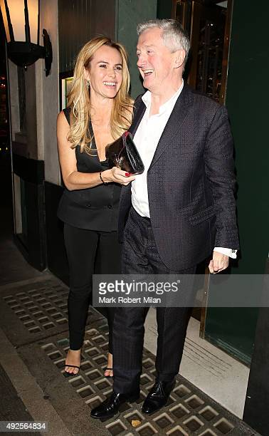 Amanda Holden and Louis Walsh seen leaving The Ivy Restaurant on October 13 2015 in London England