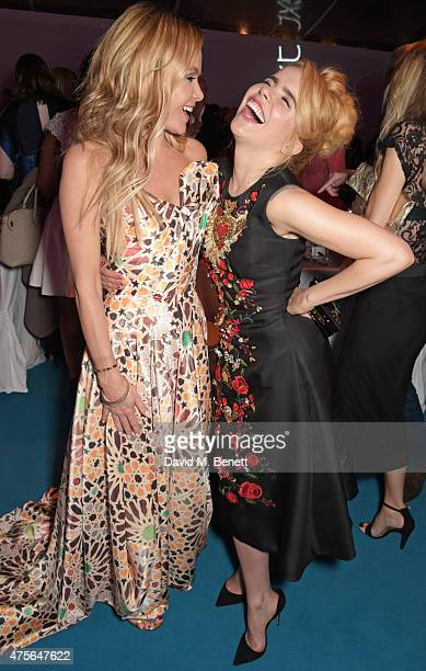 Amanda Holden and Paloma Faith attend the Glamour Women Of The Year awards at Berkeley Square Gardens on June 2, 2015 in London, England.