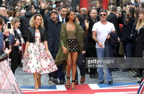 Amanda Holden Anthony McPartlin David Walliams Alesha Dixon Declan Donnelly and Simon Cowell attend Britain's Got Talent London auditions at London...