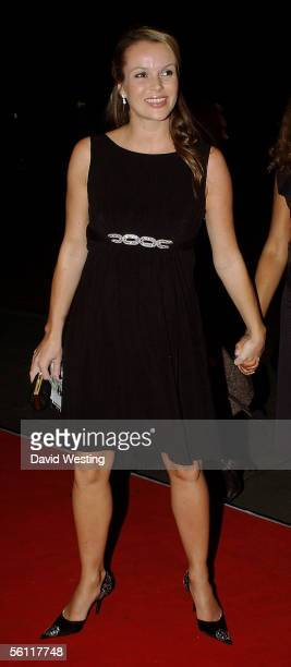 Amanda Holden arrives at the aftershow party following the UK premiere of In Her Shoes at the Grosvenor House Hotel November 7 2005 in London England