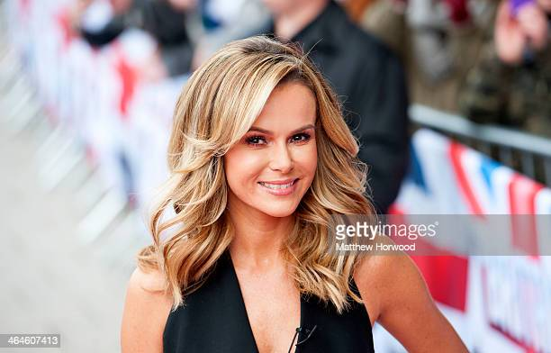 Amanda Holden arrives at the auditions of Britain's Got Talent at the Wales Millenium Centre on January 23 2014 in Cardiff Wales