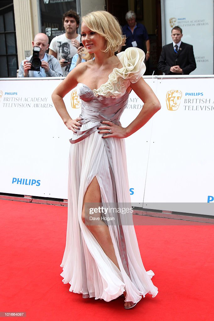 Amanda Holden arrives at The Philips British Academy Television Awards held at The Palladium on June 6, 2010 in London, England.