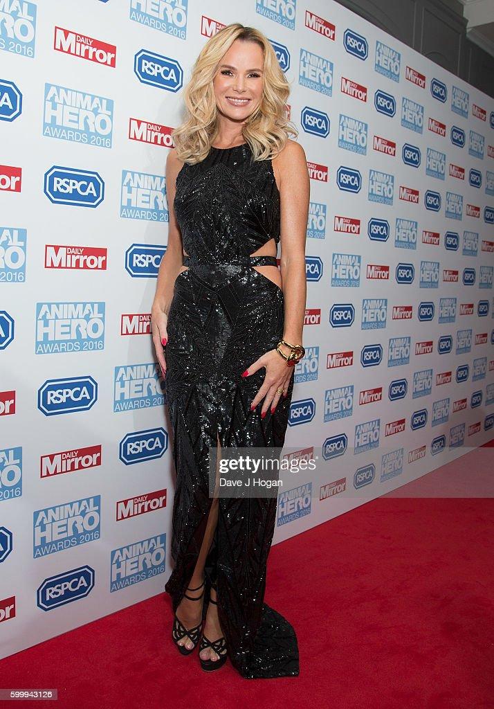 Amanda Holden arrives for Daily Mirror and RSPCA Animal Hero Awards at Grosvenor House, on September 7, 2016 in London, England.