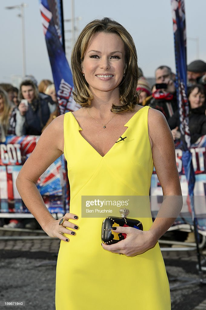 Amanda Holden arrives for the 1st day of judges auditions for 'Britain's Got Talent' at Millenium Centre on January 16, 2013 in Cardiff, Wales.