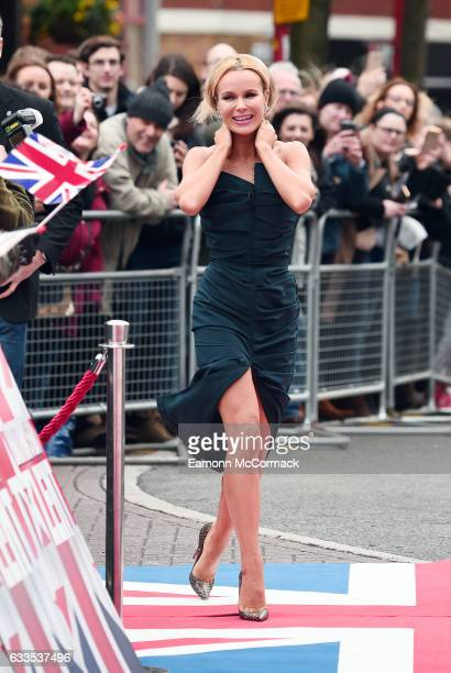 Amanda Holden arrives for the Britain's Got Talent Birmingham Auditions on February 2 2017 in Birmingham United Kingdom