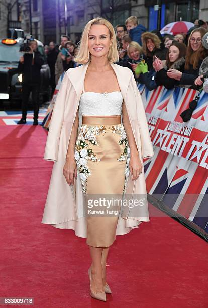 Amanda Holden arrives for the Britain's Got Talent London Auditions on January 29 2017 at the London Palladium London United Kingdom