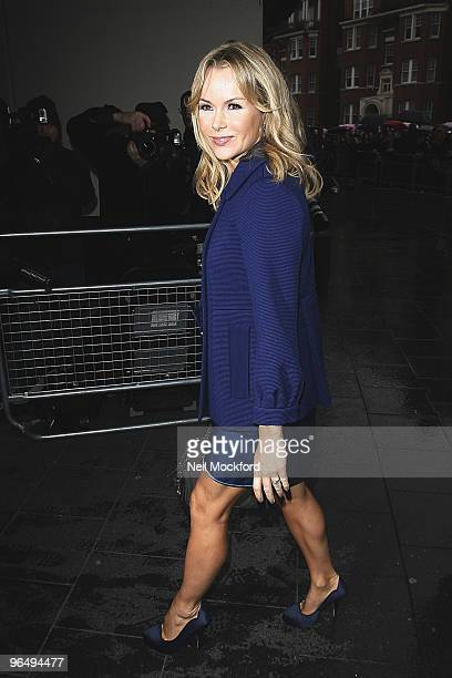 Amanda Holden arrives for the London auditions for 'Britain's Got Talent' at Hammersmith Apollo on February 8 2010 in London England