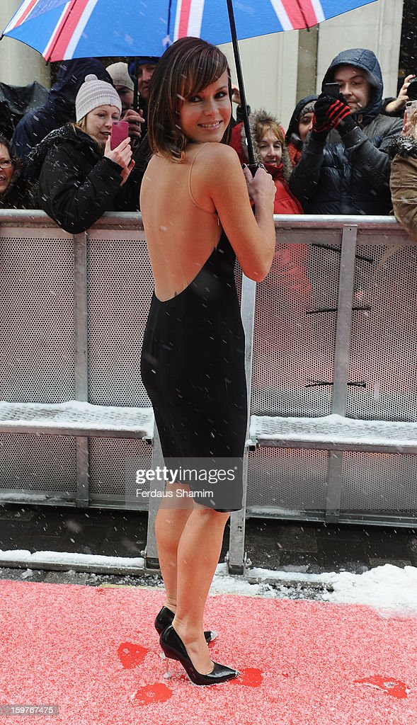 Amanda Holden arrives for the London judges auditions for 'Britain's Got Talent' at London Palladium on January 20, 2013 in London, England.