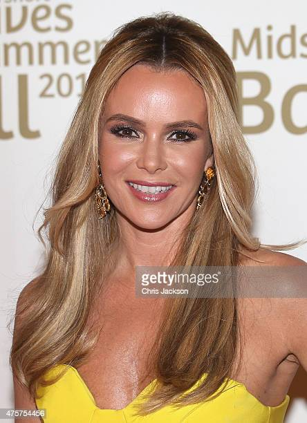 Amanda Holden arrives for the Together for Short Lives Midsummer Ball at Banqueting House on June 3 2015 in London England