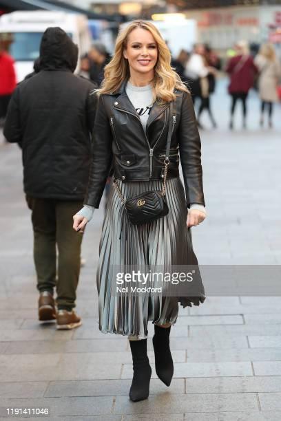 Amanda Holden at Heart Radio Studios on December 02, 2019 in London, England.