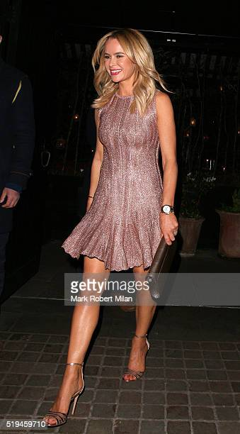 Amanda Holden at the Chiltern Firehouse for Michael McIntyre's 40th Birthday Party on April 6 2016 in London England