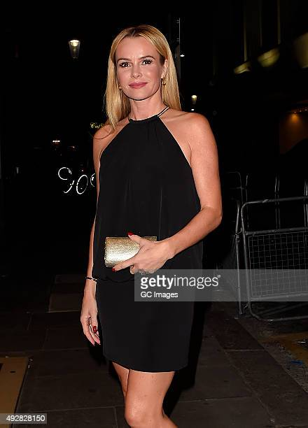 Amanda Holden attends Ant and Dec's joint 40th Birthday party at Kensington Roof Gardens on October 15 2015 in London England