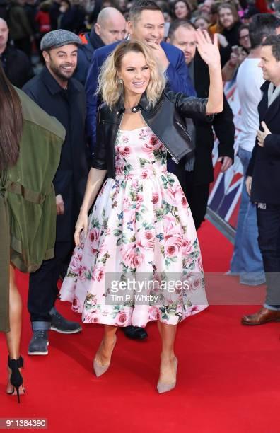 Amanda Holden attends Britain's Got Talent London auditions at London Palladium on January 28 2018 in London England