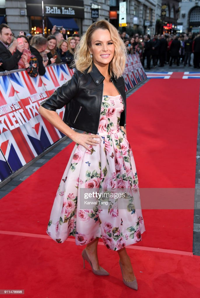 Amanda Holden attends Britain's Got Talent London auditions at London Palladium on January 28, 2018 in London, England.