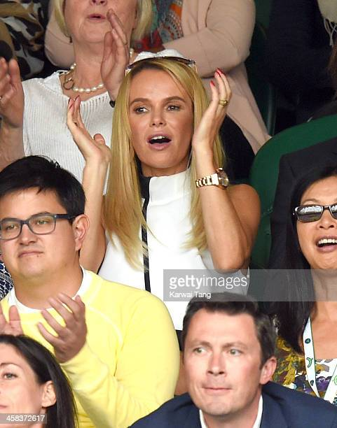 Amanda Holden attends day six of the Wimbledon Tennis Championships at Wimbledon on July 02, 2016 in London, England.