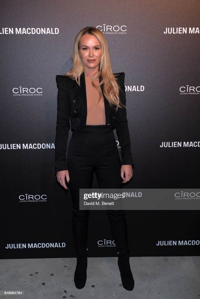Amanda Holden attends Julien Macdonald Spring Summer 2018 Show sponsored by Ciroc at The Bankside Vaults on September 18, 2017 in London, England.