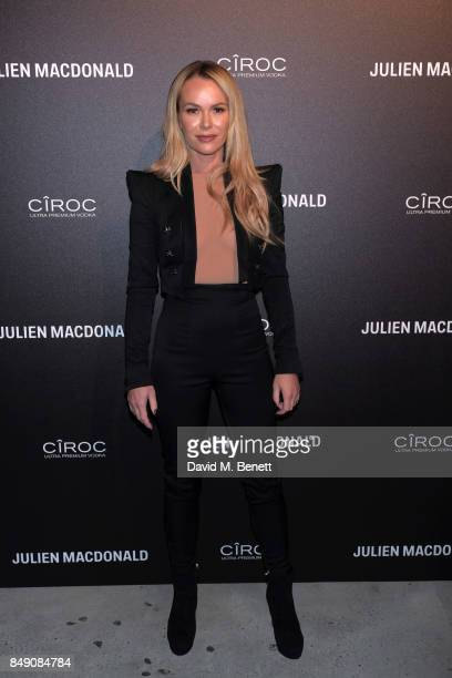 Amanda Holden attends Julien Macdonald Spring Summer 2018 Show sponsored by Ciroc at The Bankside Vaults on September 18 2017 in London England
