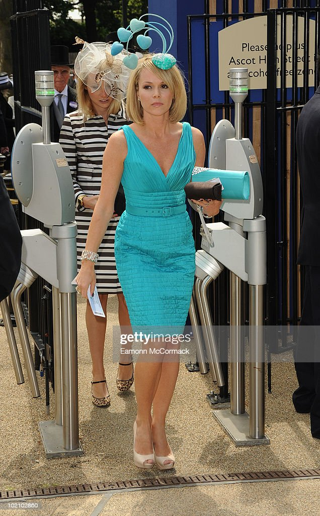 Amanda Holden attends Royal Ascot at Ascot Racecourse on June 15, 2010 in Ascot, England.