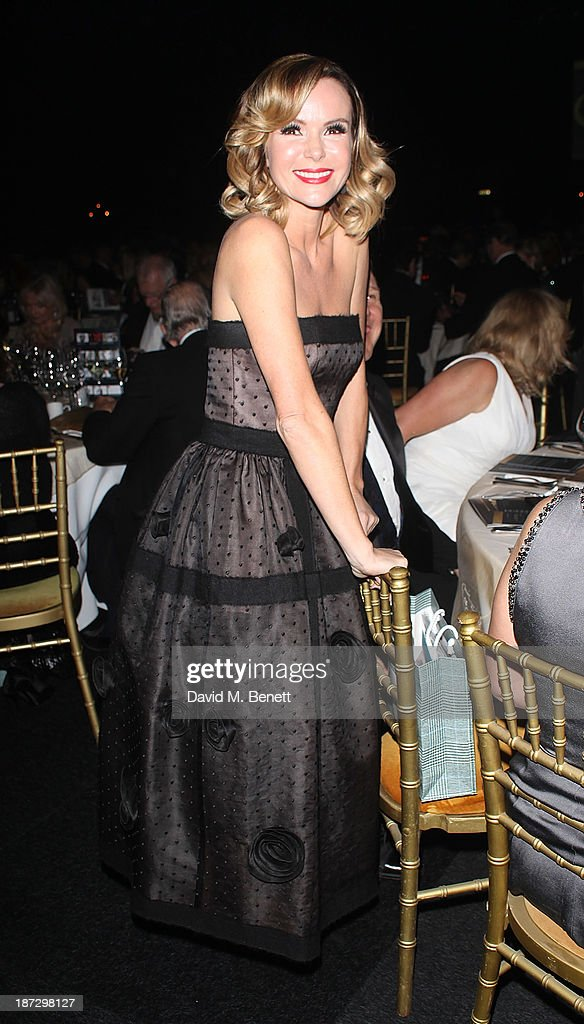 Amanda Holden attends the annual Collars and Coats gala ball in aid of Battersea Dogs & Cats home at Battersea Evolution on November 7, 2013 in London, England.