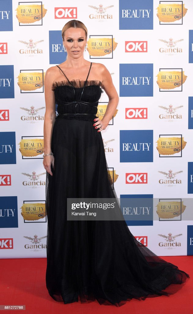 Amanda Holden attends The Beauty Awards at Tower of London on November 28, 2017 in London, England.