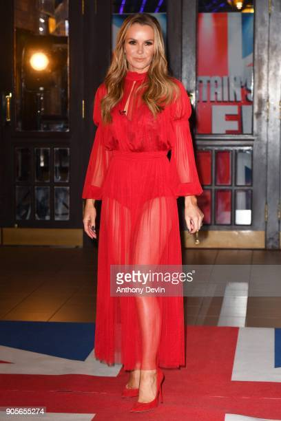 Amanda Holden attends the 'Britain's Got Talent' Blackpool auditions held at Blackpool Opera House on January 16, 2018 in Blackpool, England.