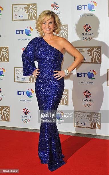 Amanda Holden attends the British Olympic Ball at The Grosvenor House Hotel on September 24 2010 in London England