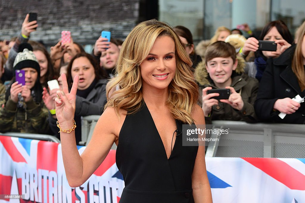 Amanda Holden attends the Cardiff auditions of Britain's Got Talent at Millenium Centre on January 23, 2014 in Cardiff, Wales.